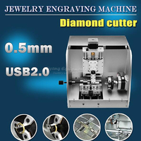 LY 40 photo cnc router ring and jewelry engraving machine metal milling marking machine usb connection