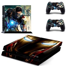 Avengers demir adam demir adam GTA5 PS4 cilt Sticker çıkartma vinil Sony Playstation 4 konsol ve 2 kontrolörleri PS4 etiket