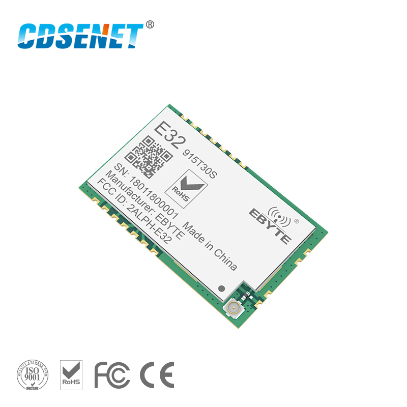 LoRa SX1278 915MHz 1W SMD Wireless Transceiver E32-915T30S 915 mhz Long Range SX1276 Transmitter Module For IPEX Antenna