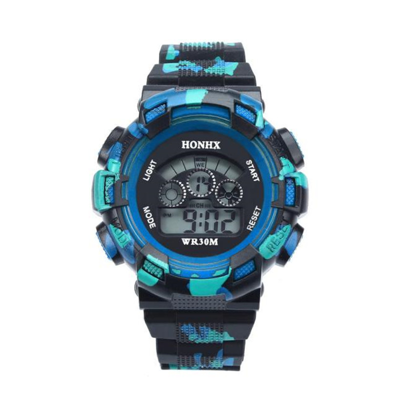 Children Watch Kids Electronic Whatch Waterproof Cool Mens Boys LED Quartz Alarm Date Sports Wrist Watch Boys Girls A7
