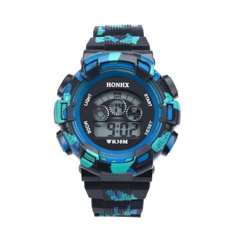 Children Watch Kids Electronic Whatch Waterproof Cool Mens Boys LED Quartz Alarm Date Sports Wrist Watch Boys Girls A7