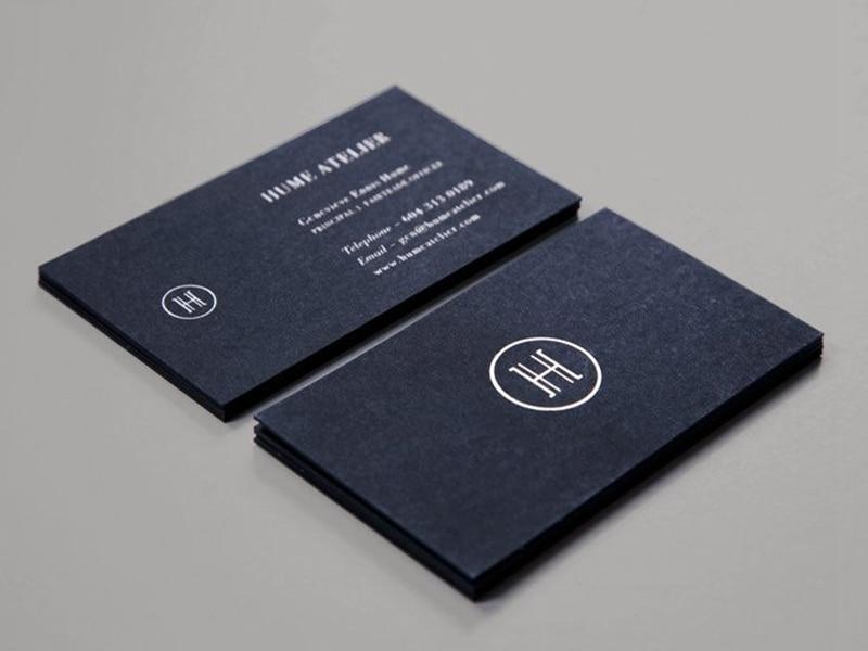 200pcs Best Quality Matte Black Card 600gsm Silver Foil Stamping ...