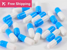 0# 1# 2# 1000 pcs / lot.blue-white colored hard gelatin empty capsules