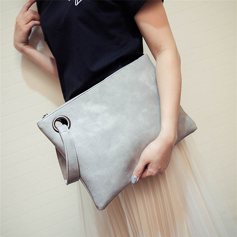 New Fashion Solid Women's Clutch Bag Leather 2017 Women Envelope Bag Clutch Evening Bag Female Clutches Handbag free delivery yuanyu 2018 new hot free shipping pearl fish skin long women clutches euramerican fashion leisure female clutches