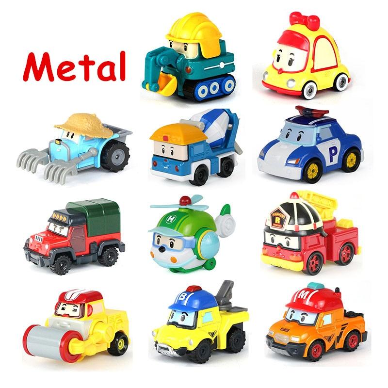 25 Styles Robocar Poli Korea Kid Toys Robocar Poli Anba Roy Anime Metal Car Model Action Figures Car Toys For Children Gift