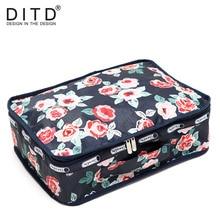DITD High Quality waterproof Oxford Cloth Travel Floral Bag Lightweight Luggage Organizer Packing Cube Organiser Travel Bags цена в Москве и Питере