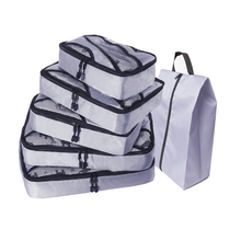 Compression Packing Cube Travel Luggage Organizer/Waterproof/Packing Cubes 5pcs/Double Zip/Mens/Female Bag Hand