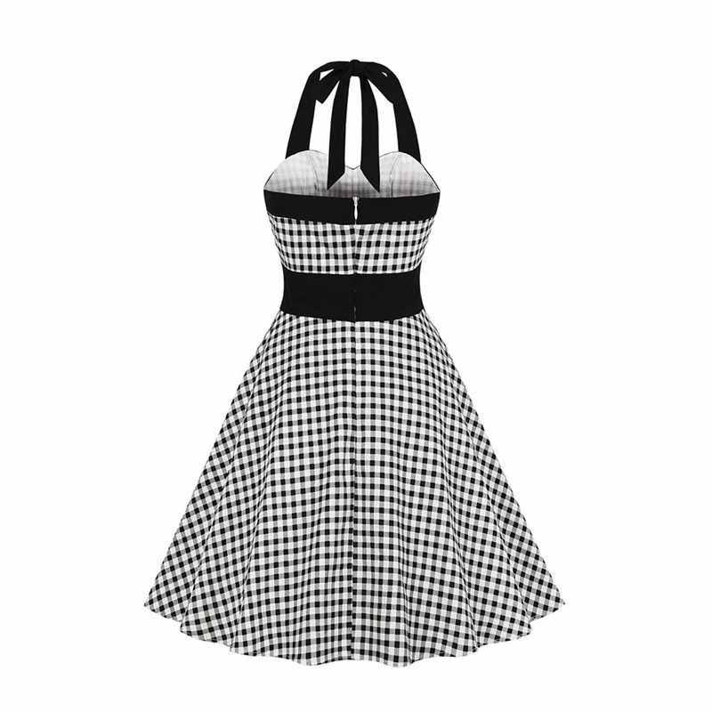 Элегантные офисные женские вечерние винтажные платья-миди в готическом стиле, большие размеры, клетчатое платье с бретельками на пуговицах, милое женское шикарное ретро-платье в готическом стиле