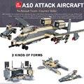 Counter Strike A10 aviones de Ataque militar de combate caliente base de buque de guerra del ejército de bloques de construcción ladrillos compatibles legoeinglys. juguetes