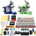 Solong Tattoo Complete Tattoo Kit 2 Pro Machine Guns 54 Inks Power Supply Foot Pedal Needles Grips Tips TK244