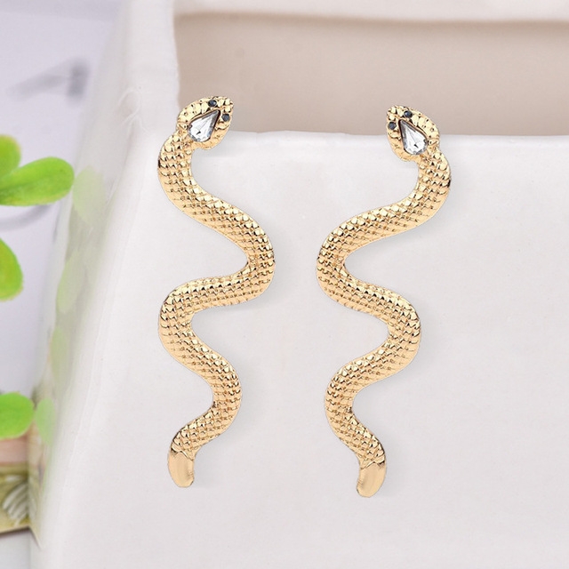 European Long Snake Earrings for Women Jewelry Punk Gold Color Ear Stud Handmade Rhinestone Womens Stud.jpg 640x640 - European Long Snake Earrings for Women Jewelry Punk Gold Color Ear Stud Handmade Rhinestone Womens Stud Earings Girl Gift E208