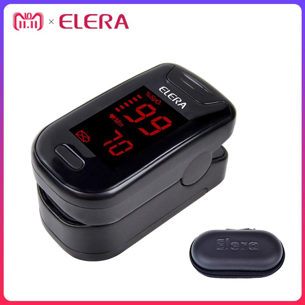 ELERA CE Digital Finger-pulsoximeter Blut Sauerstoff SpO2 Sättigung PR Oximetro Monitor oximetro de dedo + Fall