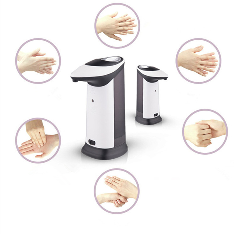 420Ml ABS Automatic Liquid Soap Dispenser Smart Sensor Touchless Sanitizer Dispensador for Kitchen Bathroom 400ml touchless automatic sensor soap dispenser motion activate stainless steel touch free sanitizer dispenser kitchen bathroom