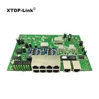desktop wall mount 8+2 gigabit port POE switch 150w IEEE802.3af/at USB Hub 960P/1080P HD ip Camera NVR Mini PC Buletooth wifi