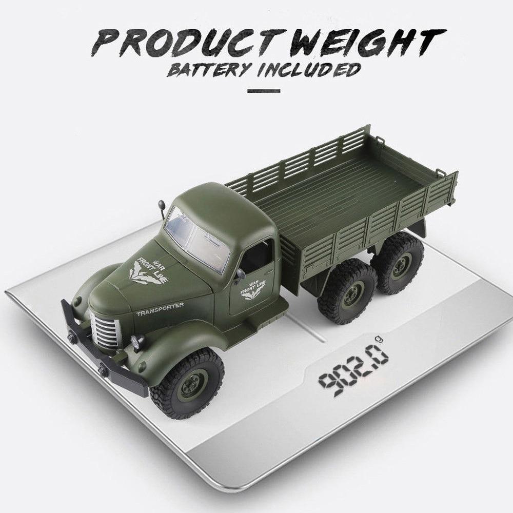 1/16 2.4G 6WD RC télécommande roche chenille tout-terrain camion militaire jouet #