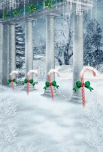 Laeacco Winter Photography Backdrop Christmas Roman Column Crutches Sugar Snow Freeze Baby Backgrounds Photocall Photo Studio цены