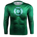 Space Soldier Green Lantern Quick Dry Mesh Ventilate 3D Print Superhero t shirt Exercise Long Sleeve Skintight Bicycle Jersey