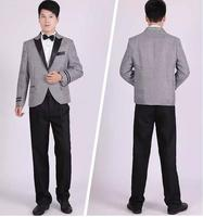 1set men suits with pants breasted hosted wedding performance suit notched grid slim fit groom tuxedos.jpg 200x200