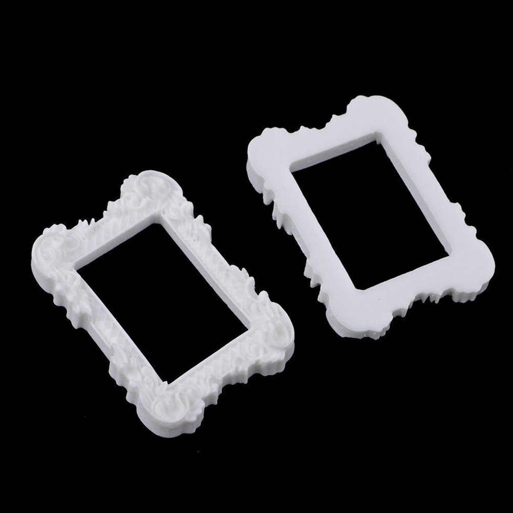 2PCS Picture Painting Doll House Miniature Art Album Home Decor Furniture Resin Mini Image Photo Frame Display Crafts Gift