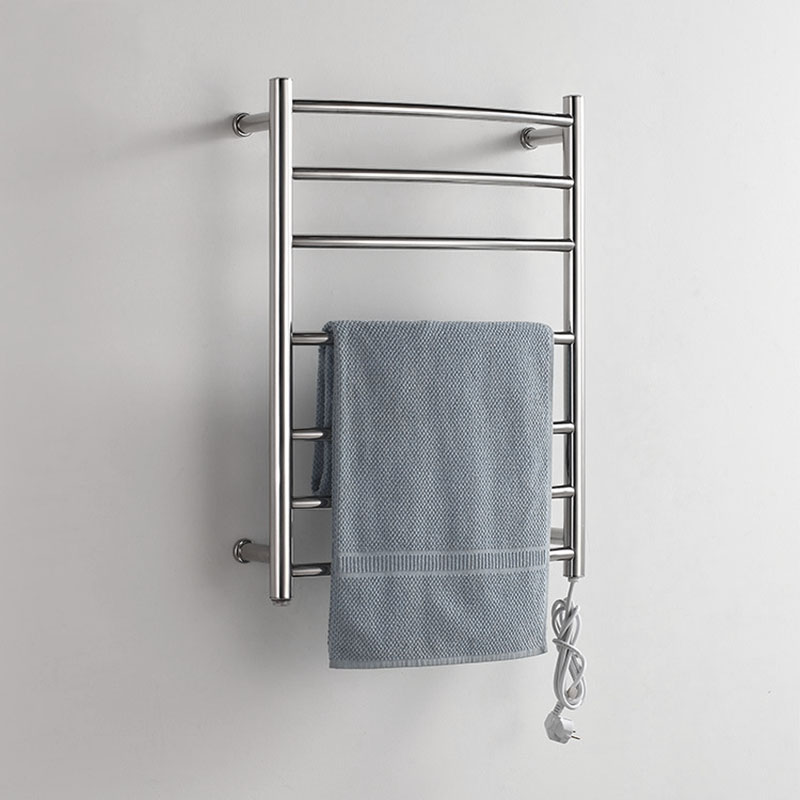 Heating 50 degree thermostatic 7 bars towel bars stainless steel polished wall mounted towel rack 220V suitable w/ switch