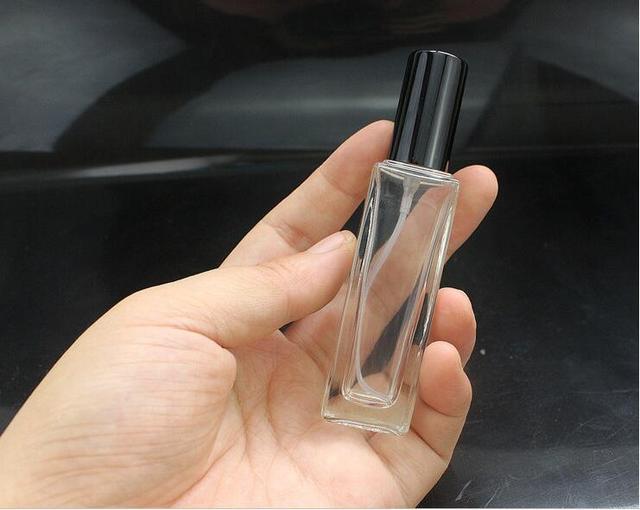 10 teile/los 20ml Leere Parfüm Flaschen Zerstäuber Spray Glas Nachfüllbare Flasche Spray Duft Fall & Reisenden Metall Spray Zerstäuber