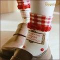 Princess sweet lolita  socksPretty girl set cherries grid soft sister's college of socks DW242