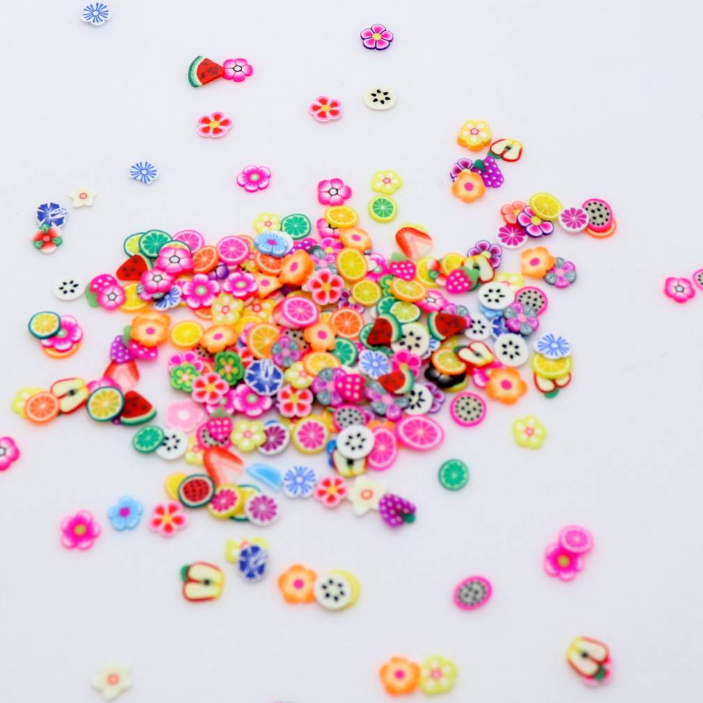1 Bag 300pcs Ornaments Soft Pottery Tablets Fruit  UV Resin Epoxy Resin Mold Makeing Jewelry Filling For DIY Jewelry