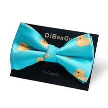 DiBanGu Brand New Bow Ties for Men Christmas Yellow Duck Bowties For Wedding Cravat Fashion Casual Bowknot Gifts