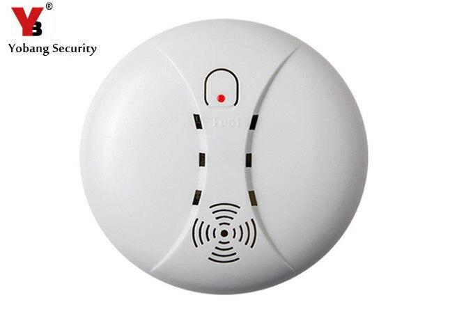 Yobang Security 433Mhz Wireless Smoke Sensor Fire Alarm Smoke Detector Alarm For Home Garden Security Auto Dial Alarm Systems