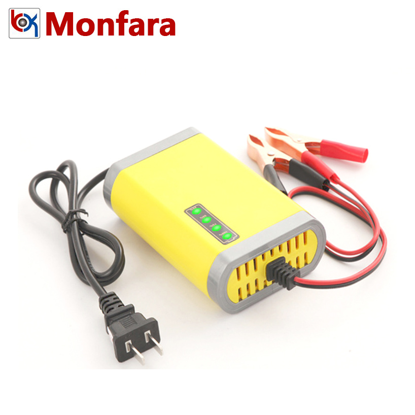 <font><b>12V</b></font> Automotive Motorcycle <font><b>Battery</b></font> Charger for <font><b>7AH</b></font> 10AH 12AH 20AH Car Motor AGM GEL <font><b>Lead</b></font> <font><b>Acid</b></font> <font><b>Battery</b></font> Auto Charging LED Display image