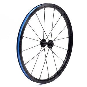 """Image 2 - دراجة 349 العجلات 1 3 سرعة 16x1 3/8 """"Kinlin NB R حافة القفز ل Brompton 3 ستين بايك عنصر خفيفة للطي عجلات الدراجة 800g"""