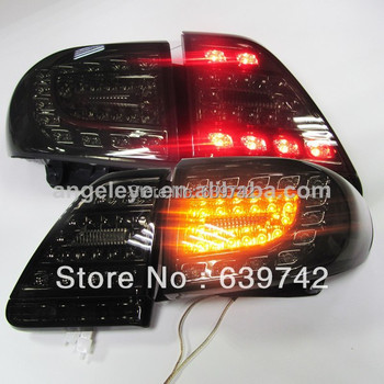 For TOYOTA Corolla Altis all Black Color  yz v1 LED Rear Light  2011-2012 year