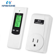 Nashone Hot Wireless Temperature Controller,Digital Thermostat with Remote Control Built in Temp Sensor Heating Cooling Mode shenzhen pitt river k81 with a password cooling or heating universal thermostat