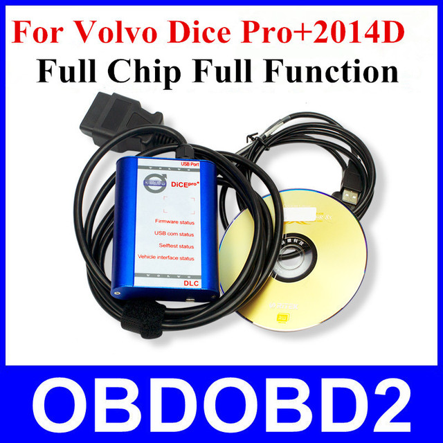 Quality A+++ Full Chip for Volvo Diagnosis Communication 2014D Super for VOLVO VIDA DICE PRO+ Blue Color Plastic Box