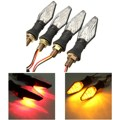 4 pcs Universal Motorcycle 12 LED Turno Sinal Indicadores Blinker Luz Runing Lâmpada