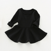 Kids Dress For Girls Clothes Candy Color Princess Dresses Long Sleeve Spring Toddler Girl Clothing Cotton