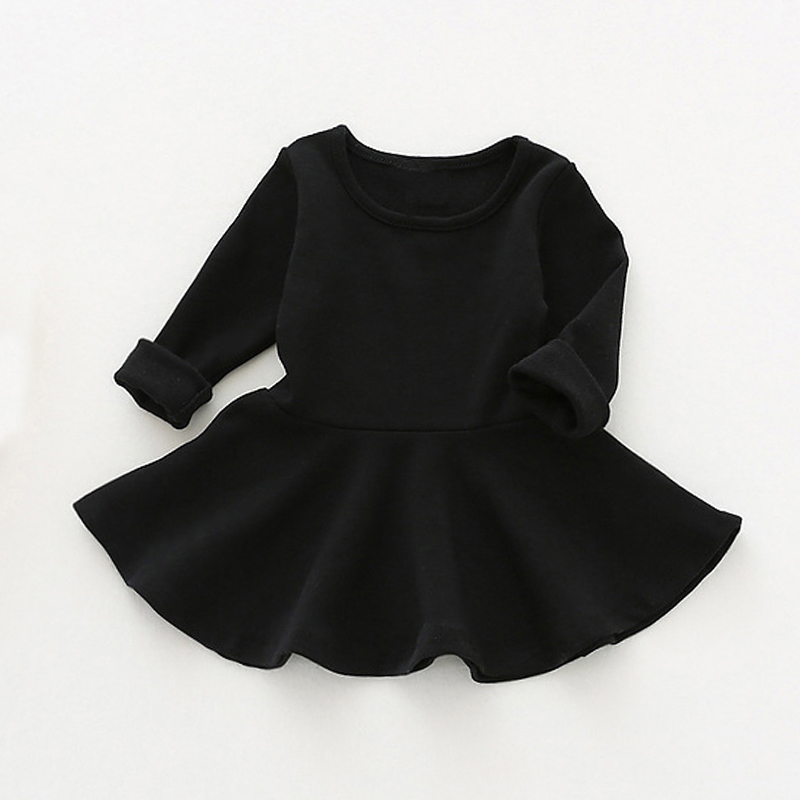 Kids Dress For Girls Clothes Candy Color Princess Dresses Long Sleeve Spring Toddler Girl Clothing Cotton Children Dress spring autumn cute baby kids girls party dress kids clothes cotton toddler girl clothing long sleeve baby girl princess dress