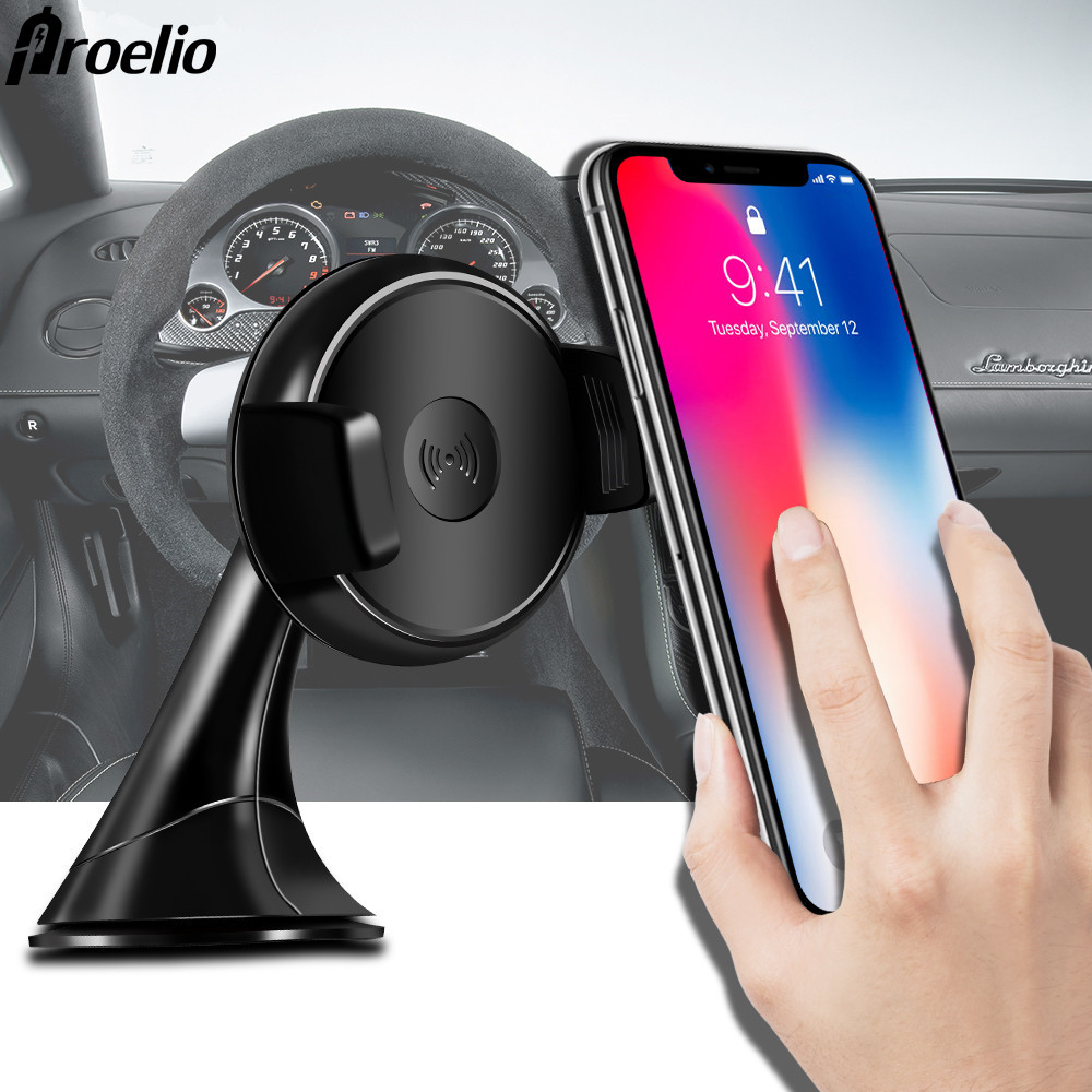 Qi Car Holder Phone Fast Wireless Car Charger Qi Wireless Fast Charger For Samsung S8 S7 S6 Edge Plus HTC LG for iPhone Charging