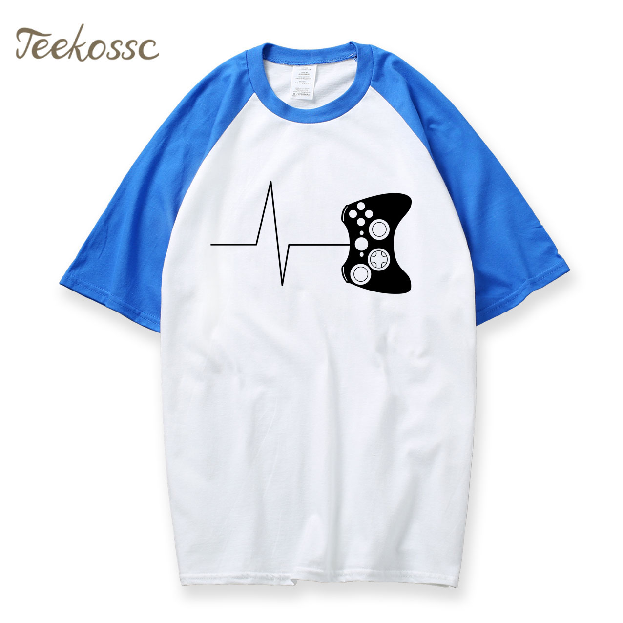 Gamer Heartbeat Boys Cotton Long Sleeve Tshirt