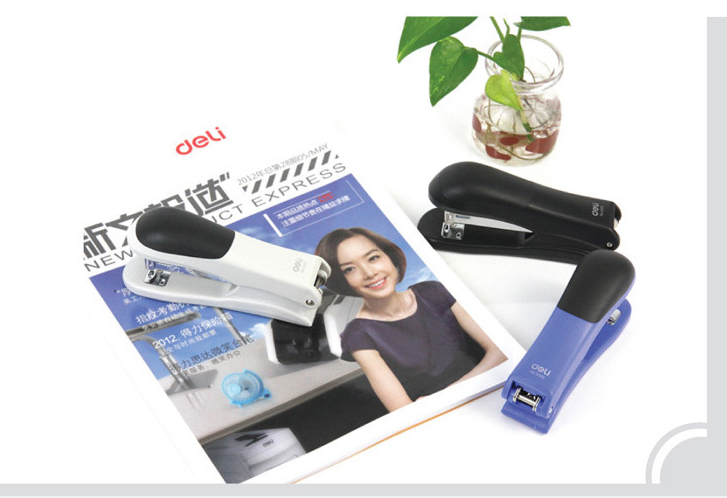 Brand New high quality Swivel simple Booklet Stapler Multi-angle Rotation Perfect For Student School Office colors random OBT001