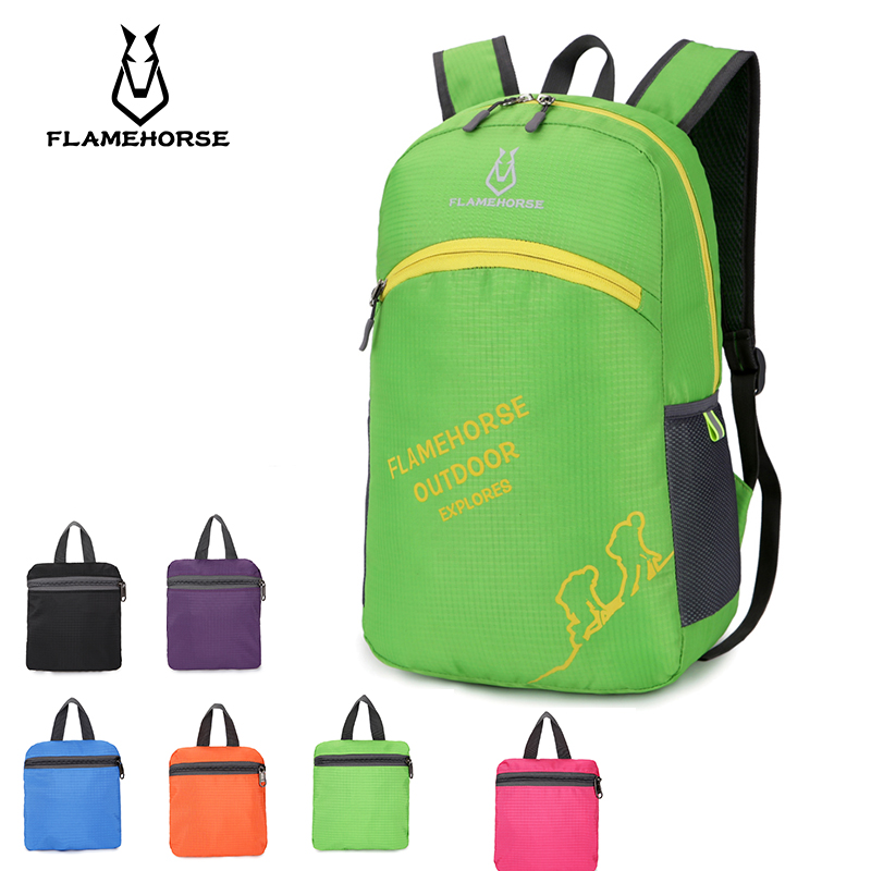 Lightweight nylon Portable foldable waterproof backpack Ms. Men Ultralight Travel Shopping Durable Packaging