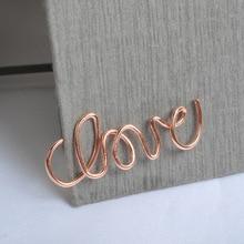 4pcs Various Shape Rose gold metal Clips Kawaii Bookmark Memo Clip cute paper clips School Office Supplies escolar