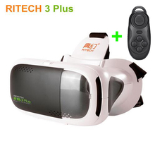 RITECH III +Virtual Reality 3D Glasses Helmet RIEM 3 Plus VR Headset Head Mount Cardboard for 4.7/5.5-6″ Smart Phone