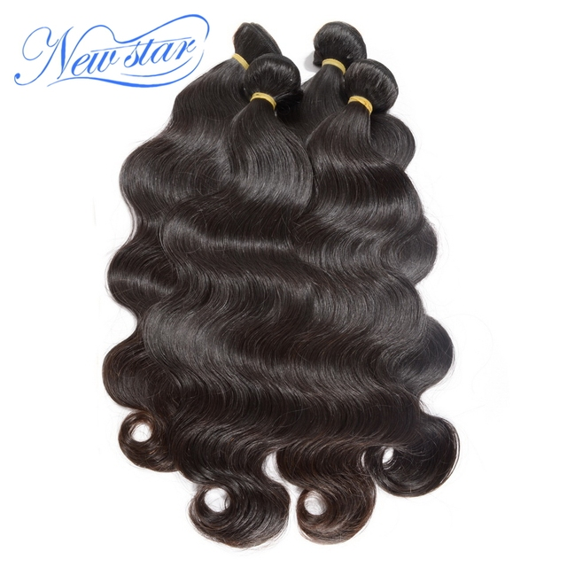 new star Eurasian body weave wave 10-34'' available 4pcs/lot virgin hair machine weft natural black or dark brown color