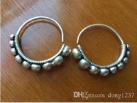 Nouveau Ethnique Miao Tibet Argent Cercle Motif Balancent Boucles D'oreilles T052>>> argent boucles d'oreilles pour les femmes