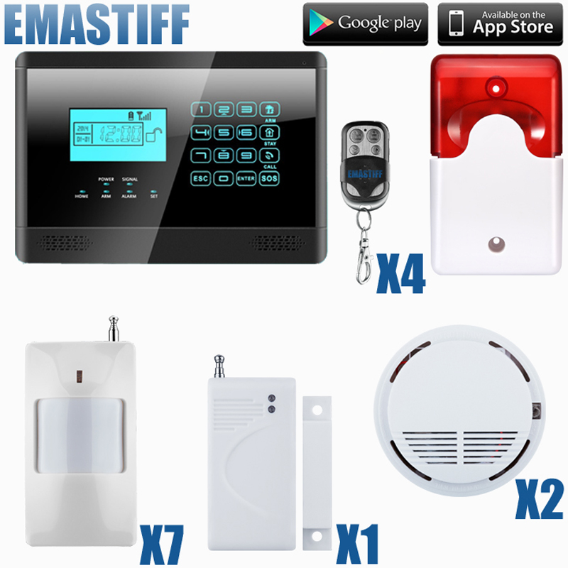Android IOS APP 433Mhz Sensor GSM Sim Call LCD Smart Dislay+Touch Keypad Home Burglar Security Alarm android ios app sensor dual network gsm pstn 2g sim call lcd smart dislay touch keypad home burglar security alarm