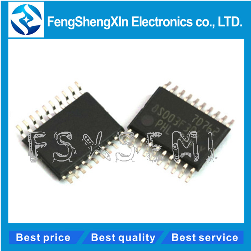 100pcs lot New STM8S003F3P6 8S003F3P6 TSSOP 20 16 MHz 8 bit MCU 8 Kbytes Flash 128