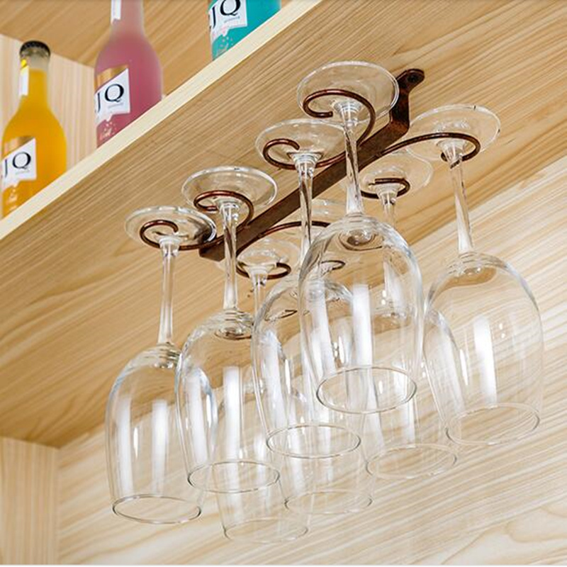 4 12 Wine Glass Rack Hanging Under Cabinet Wine Cup Holder Stemware