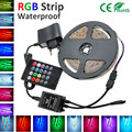 5M Led Strip Light SMD 2835/3528 Flexible  diode tape lamp Led Light String RGB /with music remoter+2A Power adapter eu/us