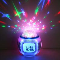 Music Starry Alarm Projection Clock Star Sky Calendar Thermometer With Retail Package Drop Shipping Best Gift
